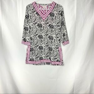 Gretchen Scott Cotton Animal Printed Tunic